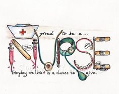 Proud Nurse Personalized 11 x8.5 Print por sweetb en Etsy
