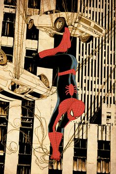 Spider-Man by Travis Charest   More Travis Charest  @ http://groups.yahoo.com/group/ComicsStrips & http://groups.google.com/group/ComicsStrips   http://travischarestspacegirl.blogspot.com  http://www.travischarestgallery.com