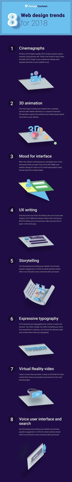 8 Web Design Trends to Help Your Business Stand Out in 2018 [Infographic] #WebMarketingSolutions