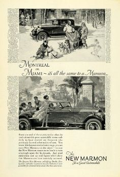 1926 Ad Marmon Automobile Winter Sled Dogs Vintage Motor Vehicle Car F. Mizen - Original Print Ad Read more  at the image link.