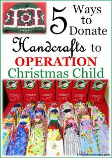 One of my favorite items to pack in an Operation Christmas Child shoebox is something I have made. And because I enjoy designing my ow...
