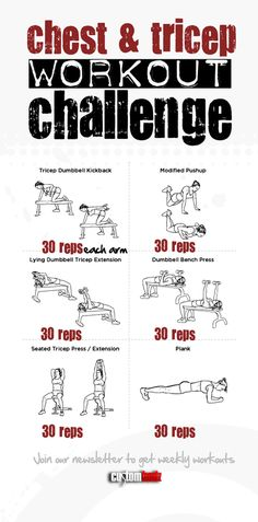 Chest and triceps