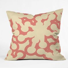 Karen Harris Jax Creamsicle Throw Pillow | DENY Designs Home Accessories