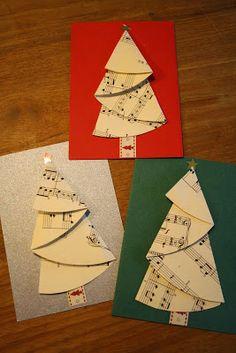Mijn Tijdverdrijf: Kerstbomen vouwen.