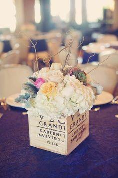 wine box bouquet