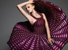 Amazing Couture Dress made from balloons