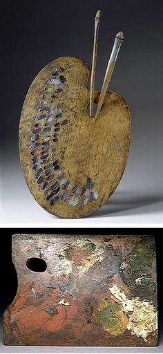 """Top - Delacroix's palette Bottom - Degas' palette I know they are """"just"""" palettes, but hey - they are """"the"""" palettes!"""