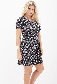 Wallflower Rose Skater Dress #F21Plus
