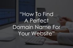How to find a domain name for your website?