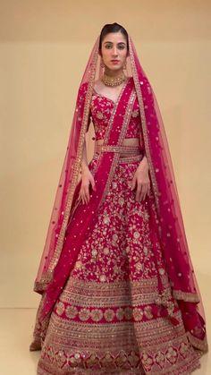 Lehanga Bridal, Sabyasachi Lehenga Bridal, Pink Bridal Lehenga, Bridal Lehngas, Designer Bridal Lehenga, Indian Bridal Lehenga, Pakistani Bridal Wear, Bridal Lehenga Choli, Silk Lehenga