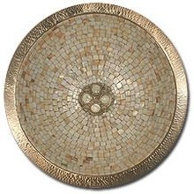 """Linkasink V007 16"""" Round Copper Mosaic Lav Sink - Drain Included"""