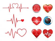 Heartbeat icon set and electrocardiogram Vector Image , Heartbeat Tattoo With Name, In A Heartbeat, Icon Set, Line Art, Pharmacy Design, Medical Icon, Plant Vector, Bottle Cap Images, Silhouette Vector