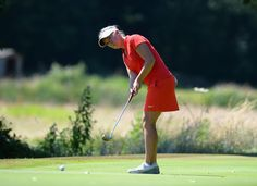 Heather MacRae of Archerfield Links putts on the 2nd green during the Women's PGA Championship at Frilford Heath Golf Club on July 19, 2016 in Abingdon, England.