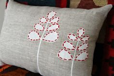 Double Leaf - Cushion Cover rectangle. $56.50, via Etsy.