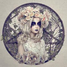 by Natalie Shau #illustration #pentagram #occult #roses