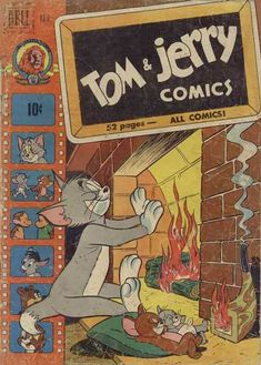 Tom and Jerry Dell/Gold Key) 78 Retro Wallpaper, Aesthetic Iphone Wallpaper, Cartoon Wallpaper, Disney Wallpaper, Posters Disney Vintage, Vintage Cartoons, Vintage Music Posters, Vintage Comics, Vintage Ads