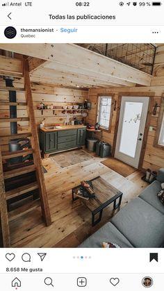 49 Creative Rustic Home Decor Ideas Tiny House Design Creative Decor Home ideas rusticwindow. Tiny Cabins, Tiny House Cabin, Tiny House Living, Tiny House Plans, Tiny House Design, Cabin Homes, Log Homes, Tiny Homes, Cabin With Loft