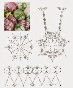 Crochet Lace Egg Chart - should be able to adapt this pattern to fit a ball-shaped christmas ornament :) Crochet Motifs, Crochet Diagram, Crochet Chart, Thread Crochet, Crochet Christmas Ornaments, Holiday Crochet, Crochet Snowflakes, Easter Crochet, Easter Eggs