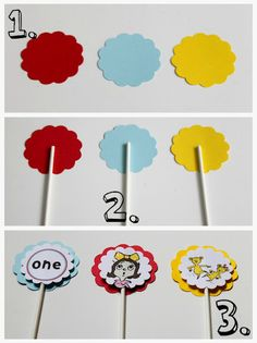 Dr. Seuss Birthday Party    DIY cupcake toppers