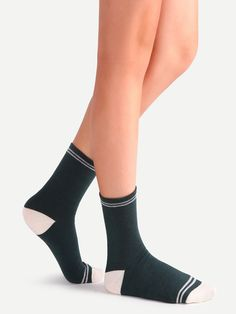 4$  Buy now - http://di117.justgood.pw/go.php?t=13336 - Contrast Striped Crew Socks