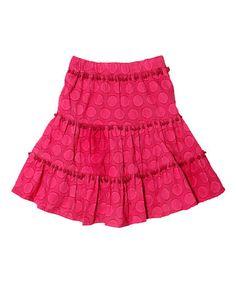 Pink Dot Pom-Pom Skirt - Toddler & Girls #zulily #zulilyfinds