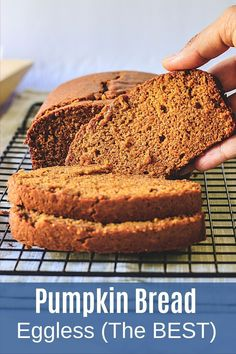 This eggless pumpkin bread has a soft and moist crumb with wonderful pumpkin and spice flavor. This is a fall staple every year. It's so easy to make that you can't go wrong with this egg-free bread. For a variation, you can add a handful of chocolate chips or nuts into the batter before baking. Pumpkin Bread, Pumpkin Pie Spice, Baking Recipes, Dessert Recipes, Desserts, Homemade Pumpkin Puree, Eggless Baking, Curry Recipes, Egg Free