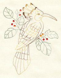 Birds of Paradise - 07b - Variegated - Green, Chestnut & Tomato