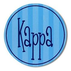 Kappa Kappa Gamma Sticker . Round 4in