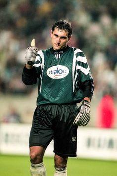 Steaua Bucharest goalkeeper Zoltan Ritli in Bucharest, Goalkeeper, 1990s, Football, Adidas, Soccer, American Football, Soccer Ball, Goaltender