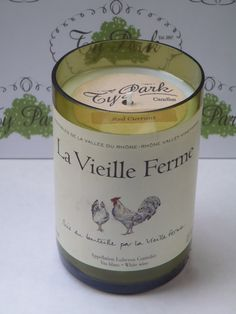 #Wine Bottle #Candle by @TyParkCandles, LLC featuring @lavieilleferme, Vin Blanc. Chickens are big this year  david@typarkcandles.com
