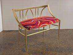1950s Pucci Velvet Style Italian Modern Settee