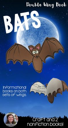 Let's step up our bat game and enjoy a little batty fun with this Bats Double Wing Book. This bats book is different than others, because it is a craft and has two informational bat books included. Students put together this book and then can learn about bats as nocturnal animals and then on the other side, learn about the life cycle of a bat. Already have a bats unit you use? This will be perfect to add to any bats unit!