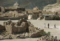 The remains of Herod's palace fortress (Masada)