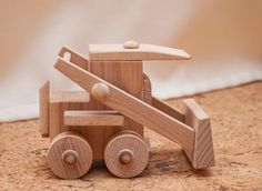 Items similar to Eco toy. on Etsy Wooden Truck, Wooden Car, Wooden Toys, Wood Toys Plans, How To Make Toys, Woodworking Toys, Wooden Animals, Pull Toy, Kids Wood