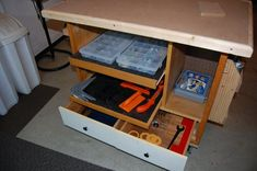 Rolling work cart/assembly table/outfeed table