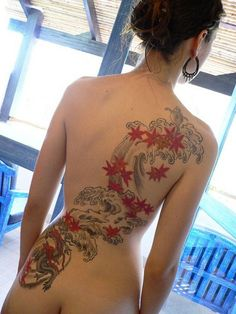 Back Dragon Tattoo For Women | Funny Tattoos | Funny Tattoo Pictures