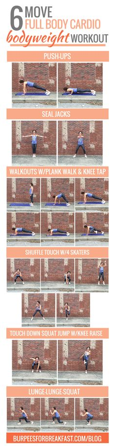 This Bodyweight Workout has a cardio component while working your entire body! | Burpees for Breakfast
