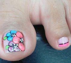 Pedicure Nail Art, Toe Nail Art, Acrylic Nails, Summer Toe Nails, Fun Nails, Nail Picking, Toe Designs, Nail Tips, Hair And Nails