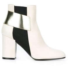 Pollini ankle boots ($327) ❤ liked on Polyvore featuring shoes, boots, ankle booties, white, bootie boots, white leather boots, ankle boots, white bootie and leather ankle booties
