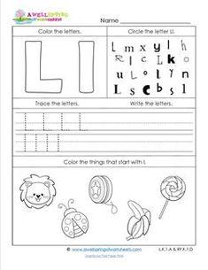 letter l and kindergarten free printable alphabet worksheets letters kk through oo animal. Black Bedroom Furniture Sets. Home Design Ideas