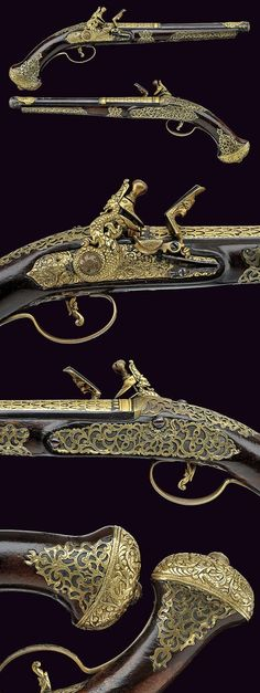 A very scarce pair of flintlock pistols for the Oriental market, Italy, 18th century.