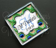 50  Personalized Wedding Favor Magnets  Pure by WineDivaDesigns, $87.50