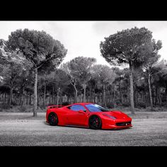 Beautiful shot of a Ferrari Italia