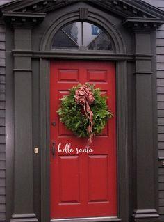 Dark front door colors wreaths Ideas for 2019 Front Door Steps, Best Front Doors, Front Door Porch, Front Door Entrance, Door Entryway, Exterior Front Doors, Entrance Ideas, Entryway Ideas, Entry Doors