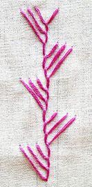 -- maidenhair stitch