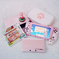 :*:✼✿𝒮𝒶𝓀𝓊𝓇𝒶 ✿✼:*゚.:*・゚゚・* - Kawaii pastel aesthetic pink white nintendo switch joycons kitty paws button anime sweet soft cute animal crossing angel gamer girl gamer pink gamer pink nintendo Source by darquiseval -