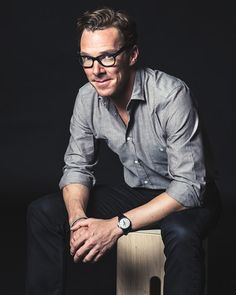 Benedict Cumberbatch, relaxed casual pose (Toronto International Film Festival 2014 promo pic for *The Imitation Game*)