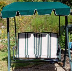 2 Seat Patio Swing From Refurbished With Sunbrella Fabric