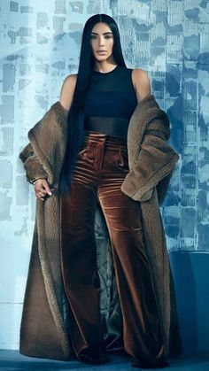 0adea6be6 Kim Kardashian Repurposes Her Own Clothes to Fit North!  Photo Kim  Kardashian wears a red fur coat for the cover of T Singapore