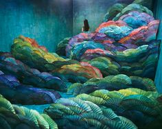 jeeyoung lee handcrafts intricate and imaginative landscapes in her room-sized studio